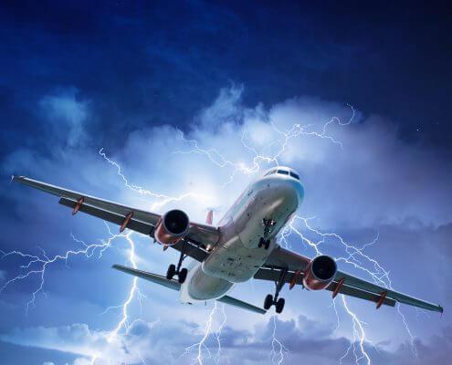 Are thunderstorms dangerous for passenger jets?