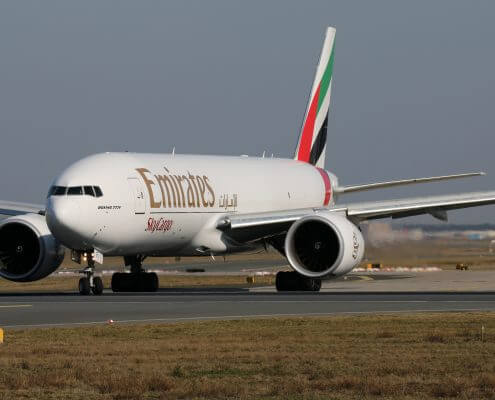 Emirates Boeing 777 sky cargo aircraft