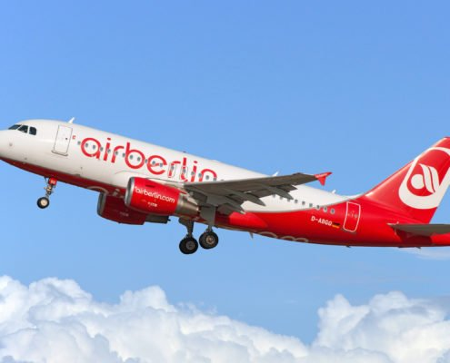 Air Berlin A320 Aircraft taking off