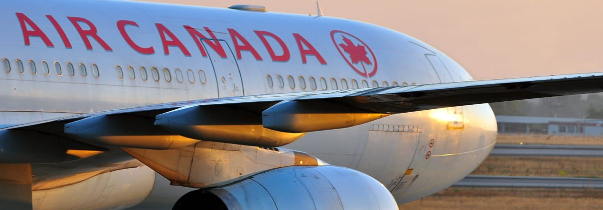 Air Canada aircraft on the ground