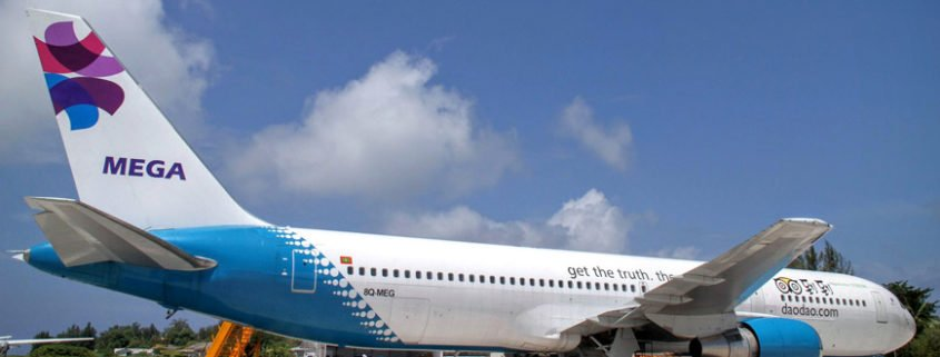 Mega Maldives Airlines 767 Aircraft