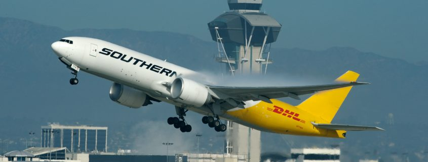 Southern Air B777F Departing LAX. Operating for DHL.