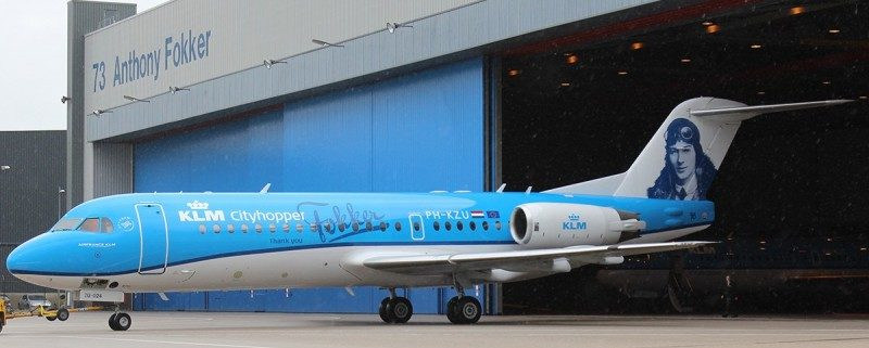 KLM mark Fokker 70 fleet retirement with special livery
