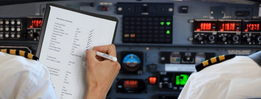 This week we look at aircraft checklists. Why and when are they used?