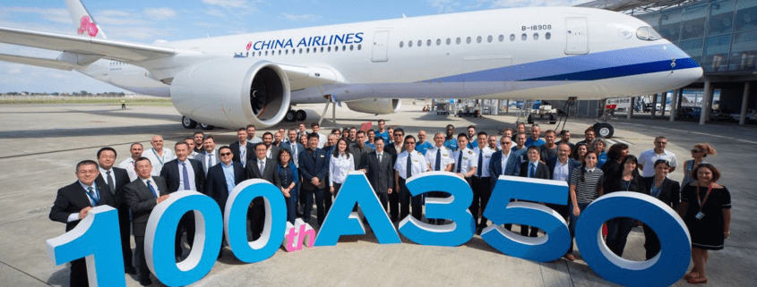 Airbusdelivers 100th A350to China Airlines