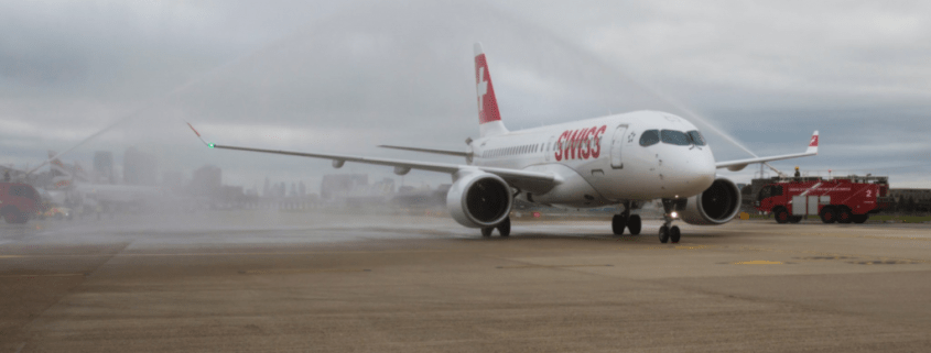 Swiss debuts Bombardier CS100 into London City Airport